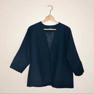 eileen fisher / oversized open front work blazer